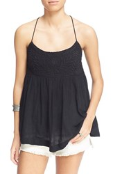 Women's Free People 'Blackbird' Embroidered Babydoll Top