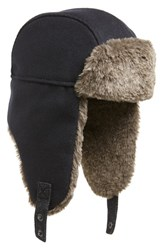 Ted Baker London Faux Fur Trapper Hat Navy