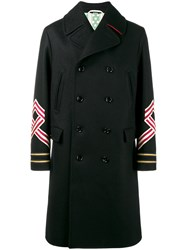 Gucci Double Breasted Coat Black
