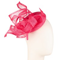 John Lewis Talia Pillbox Waves Fascinator Lipstick