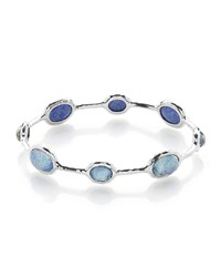 Ippolita 925 Rock Candy Eight Stone Bangle In Lapis Triplet