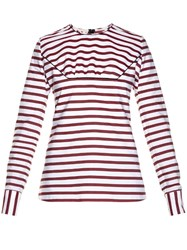 Marni Breton Striped Gathered Top
