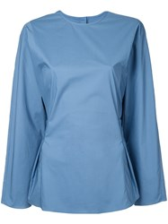 H Beauty And Youth Drawstring Top Blue