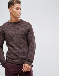 Selected Homme Heavy Mixed Yarn Knitted Jumper Bitter Chocolate Brown