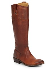 Frye Carson Leather Riding Boots Cognac