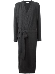 Tomas Maier Long Tied Waist Cardigan Grey