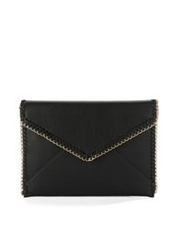 Design Lab Lord And Taylor Embellished Faux Leather Envelope Clutch Burgundy