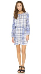 Paul Smith Pleated 3 4 Sleeve Dress Blue White