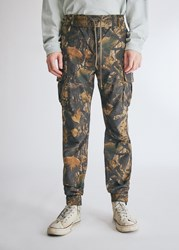 John Elliott Panorama Cargo Pant In Tree Camo Brown Size Small 100 Cotton