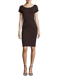 Nicole Miller Boatneck Sheath Dress Dark Charcoal