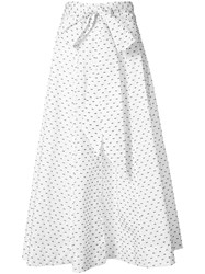 Lisa Marie Fernandez Polka Dot Bow Beach Skirt Women Cotton 1 White