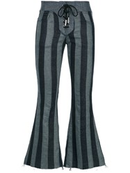Marques Almeida Marques'almeida Lace Up Cropped Jeans Blue