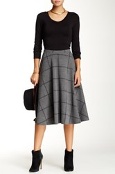 Blvd Checkered A Line Skirt Gray
