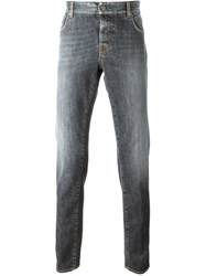 Borrelli Stonewashed Slim Fit Jeans Grey