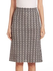 Derek Lam Crochet Wool A Line Skirt Black White