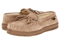 Old Friend Cloth Lined Moccasin Chestnut Slippers Brown
