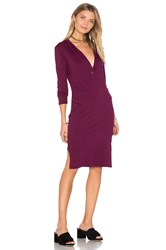 Bobi Long Sleeve Button Front Dress Red