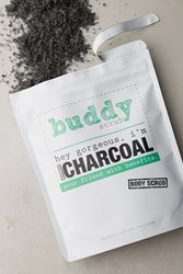 Anthropologie Buddy Scrub Activated Charcoal Body Scrub Black