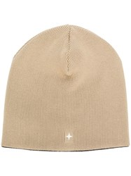 Stone Island Classic Knitted Hat Nude And Neutrals