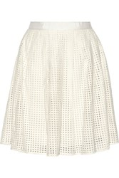 Joie Lissome Cutout Cotton Skirt White