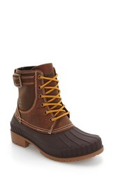 Kamik Women's Evelyn Waterproof Boot Dark Brown Leather