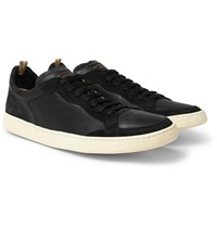 Officine Creative Kareem Suede And Leather Sneakers Black