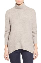 Women's Madewell 'Aria' Knit Turtleneck Heather Flax