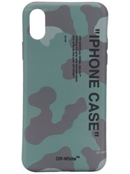 Off White Camouflage Logo Iphone X Case Green