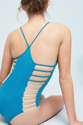 Anthropologie L Space Wildside One Piece Turquoise