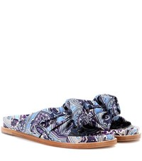 Etro Printed Satin Slides Multicoloured