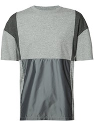 Mostly Heard Rarely Seen Patchwork T Shirt Grey