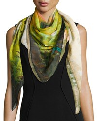 Impressionistic Bloom Scarf Pineapple Multi Women's Pineapple Multi Lafayette 148 New York
