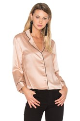Hoss Intropia V Neck Button Up Blouse Blush