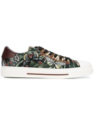 Valentino 'Tie And Dye With Butterflie' Sneakers Green