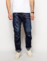Jack And Jones Jack And Jones Loose Fit Jeans With Panels Darkblue