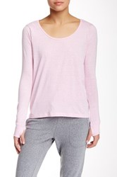 Steve Madden Back Wrap Long Sleeve Tee Pink