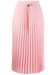 Red Valentino Drawstring Waist Pleated Skirt Pink
