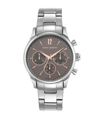 Vince Camuto Three Eye Dial Stainless Bracelet Watch Grey
