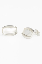 David Donahue Mother Of Pearl Cuff Links Silver Pearl