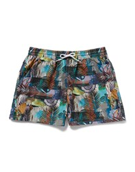 Farah Vintage Swimming Trunks With Surreal Print Multi