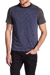Kenneth Cole Colorblock Crew Neck Tee Blue