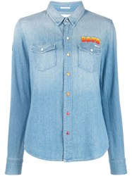 Mother Embroidered Shirt Blue