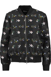 Suno Embroidered Canvas Jacket Black