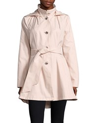 Betsey Johnson Flared Trench Coat Pink