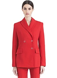 Bobby Kolade Double Breasted Blazer Jacket Red