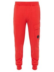 C.P. Company Lens Loopback Cotton Track Pants Red
