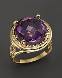 Bloomingdale's Amethyst Statement Ring In 14K Yellow Gold Gold Purple