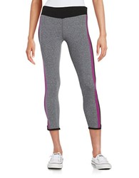 Kensie Colorblocked Athletic Pants Heather Grey