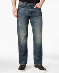 Sean John Hamilton Selvedge Dunlap Wash Relaxed Fit Jeans