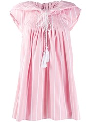 Thierry Colson Striped Day Dress Pink